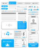 Web elements template 1 Royalty Free Stock Photography