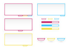 Web elements templates Stock Photo
