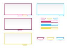 Web elements templates Stock Photo