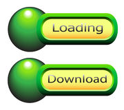 Web  elements  to  download  and  loading. Stock Photo