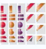 Web elements vector. Set of shinny ribbon elements Royalty Free Stock Image