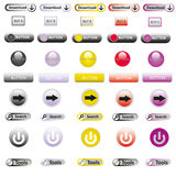 Web Elements Vector Button Set Royalty Free Stock Photos