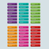 Web Elements Vector Button Set Stock Images