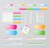 Web Elements Vector Design Set Royalty Free Stock Image