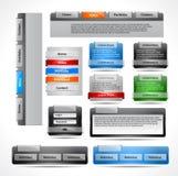 Web-Elementsatz Lizenzfreie Stockbilder