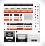 Web-Elementsatz Lizenzfreies Stockbild