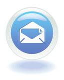 Web email icon. Email internet on or off button in Vector format Stock Image