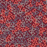 Empty triangles seamless pattern stock illustration