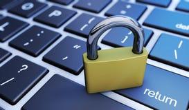 Web en Computerbeveiligingconcept Stock Afbeelding
