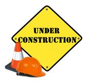 Web en construction Image stock