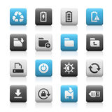 Web en Mobiele Pictogrammen 3 - Matte Series Royalty-vrije Stock Foto