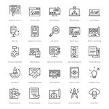 Web en SEO Line Vector Icons 20 stock illustratie