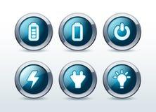 Web energy button icon set  illustration Royalty Free Stock Image