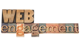 Web engagement in wood type Royalty Free Stock Photography