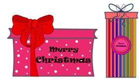web Ensemble de symboles colorés de boîte-cadeau illustration libre de droits