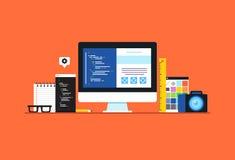 Web-Entwicklung Stockfoto