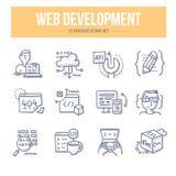 Web-Entwicklungs-Gekritzel-Ikonen lizenzfreie abbildung
