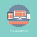 Web-Entwicklungs-Illustrationskonzept Lizenzfreies Stockbild