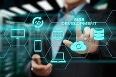 Web-Entwicklungs-Kodierungs-Programmierungsinternet-Technologie-Geschäftskonzept lizenzfreies stockfoto