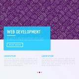 Web-Entwicklungs-Konzept mit dünner Linie Ikonen Stockbilder