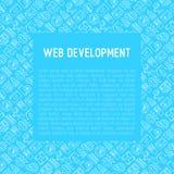 Web-Entwicklungs-Konzept mit dünner Linie Ikonen Lizenzfreie Stockbilder