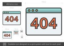 Web error line icon. Stock Photo