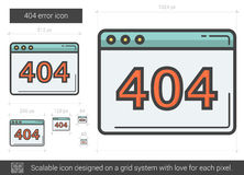Web error line icon. Stock Photos
