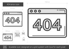 Web error line icon. Royalty Free Stock Photo