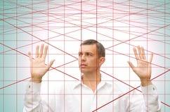 Web-esca del laser Immagine Stock