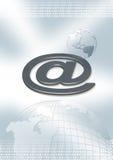 Web et @ Image stock
