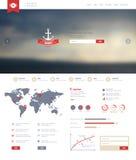 Web et calibre mobile Conception d'entreprise de site Web illustration libre de droits