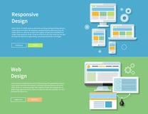 Web et conception sensible Illustration Stock