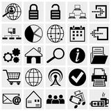 Web et ensemble mobile d'icône. Photos stock