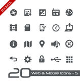 Web et fondements mobiles d'Icons-5 // Image stock