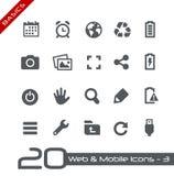 Web et fondements mobiles d'Icons-3 // Photographie stock
