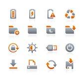 Web et icônes mobiles 3 -- Série de graphite Images stock