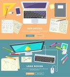 Web et Logo Design illustration stock