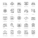 Web et SEO Line Vector Icons 11 Photos stock