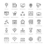 Web et SEO Line Vector Icons 8 Images stock