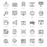 Web et SEO Line Vector Icons 23 illustration stock