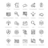 Web et SEO Line Vector Icons 15 Photo libre de droits