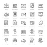 Web et SEO Line Vector Icons 3 Photos stock