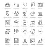Web et SEO Line Vector Icons 7 Photographie stock libre de droits