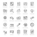 Web et SEO Line Vector Icons 14 illustration stock