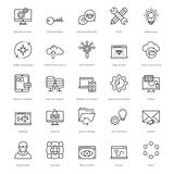 Web et SEO Line Vector Icons 17 Photo libre de droits