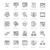 Web et SEO Line Vector Icons 35 Photo stock