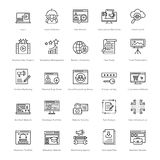 Web et SEO Line Vector Icons 32 Photo libre de droits