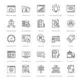 Web et SEO Line Vector Icons 6 Photo stock
