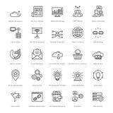 Web et SEO Line Vector Icons 9 Photographie stock libre de droits