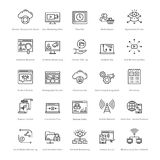 Web et SEO Line Vector Icons 31 Illustration Stock